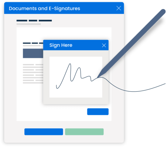 Clio Grow Simplified UI Document Automation Electronic Signatures Documents and E-Signatures