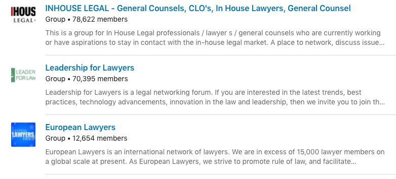 Image of linkedin lawyer groups to join