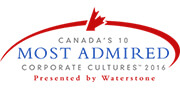 Canada's 10 Most Admired Corporate Cultures of 2016 by Waterstone Human Capital