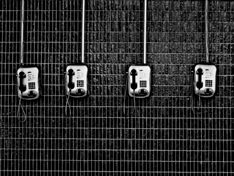 Image of a few payphones