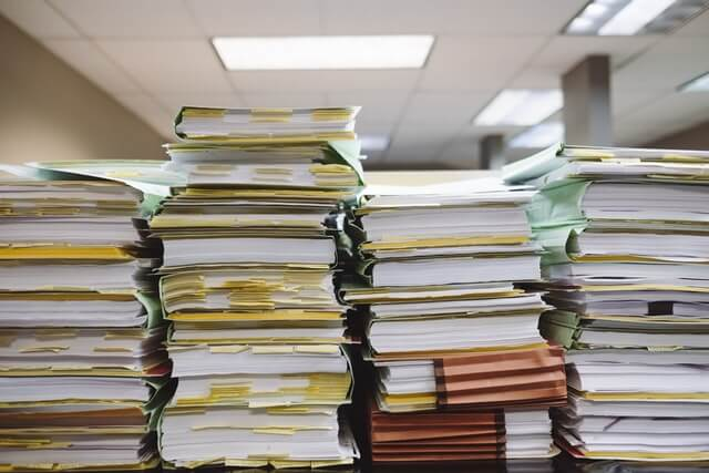 Image of stacks of files