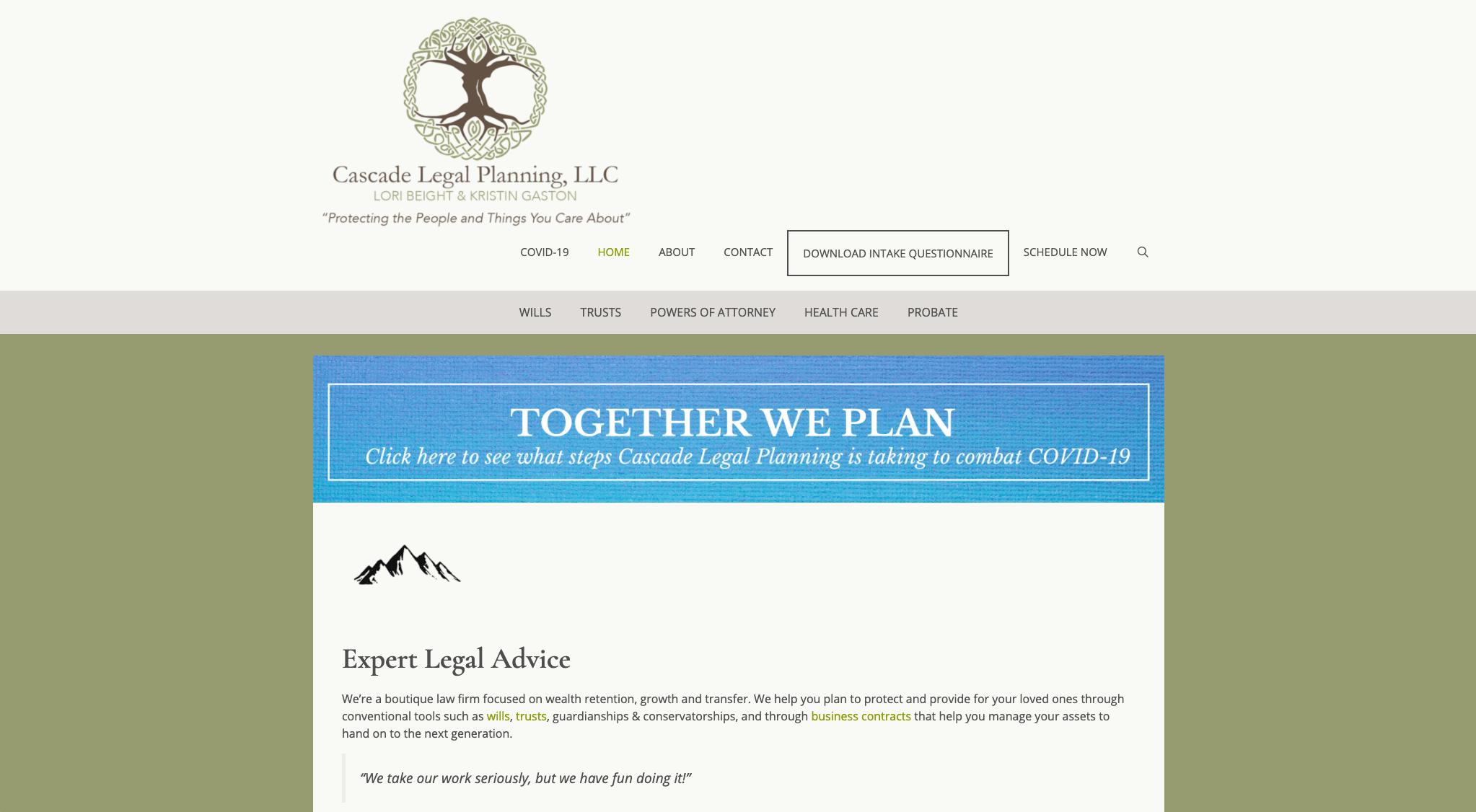 Cascade Legal Website
