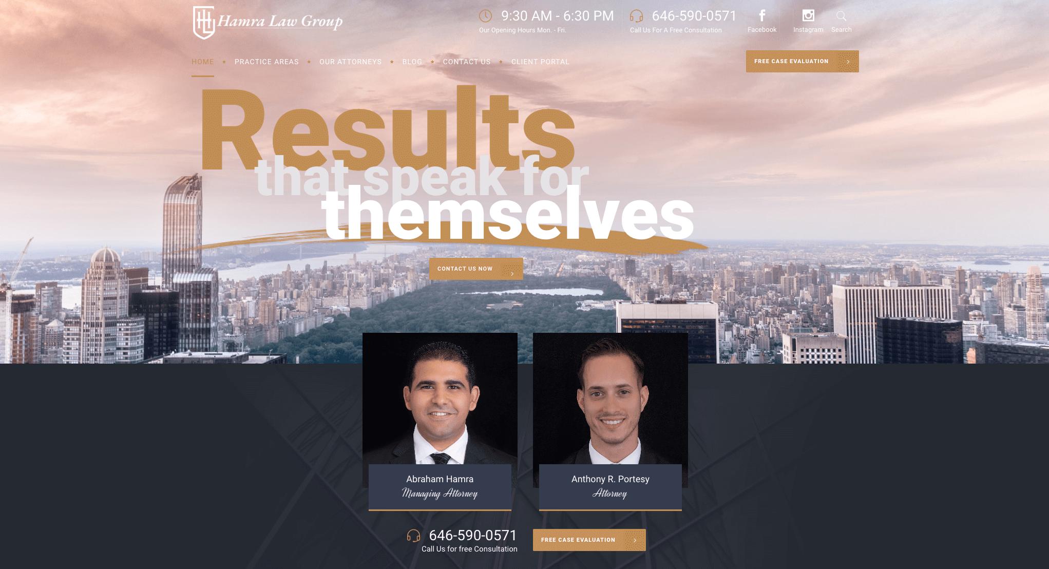 Hamra law website