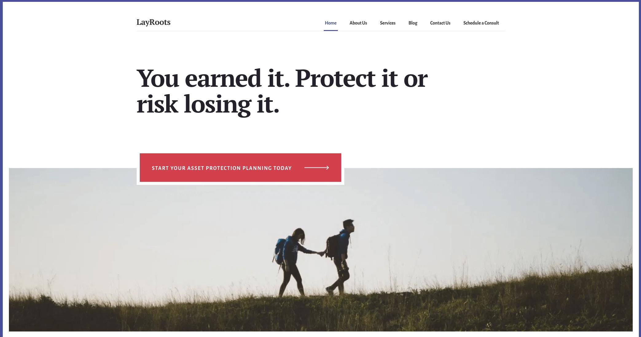 LayRoots website