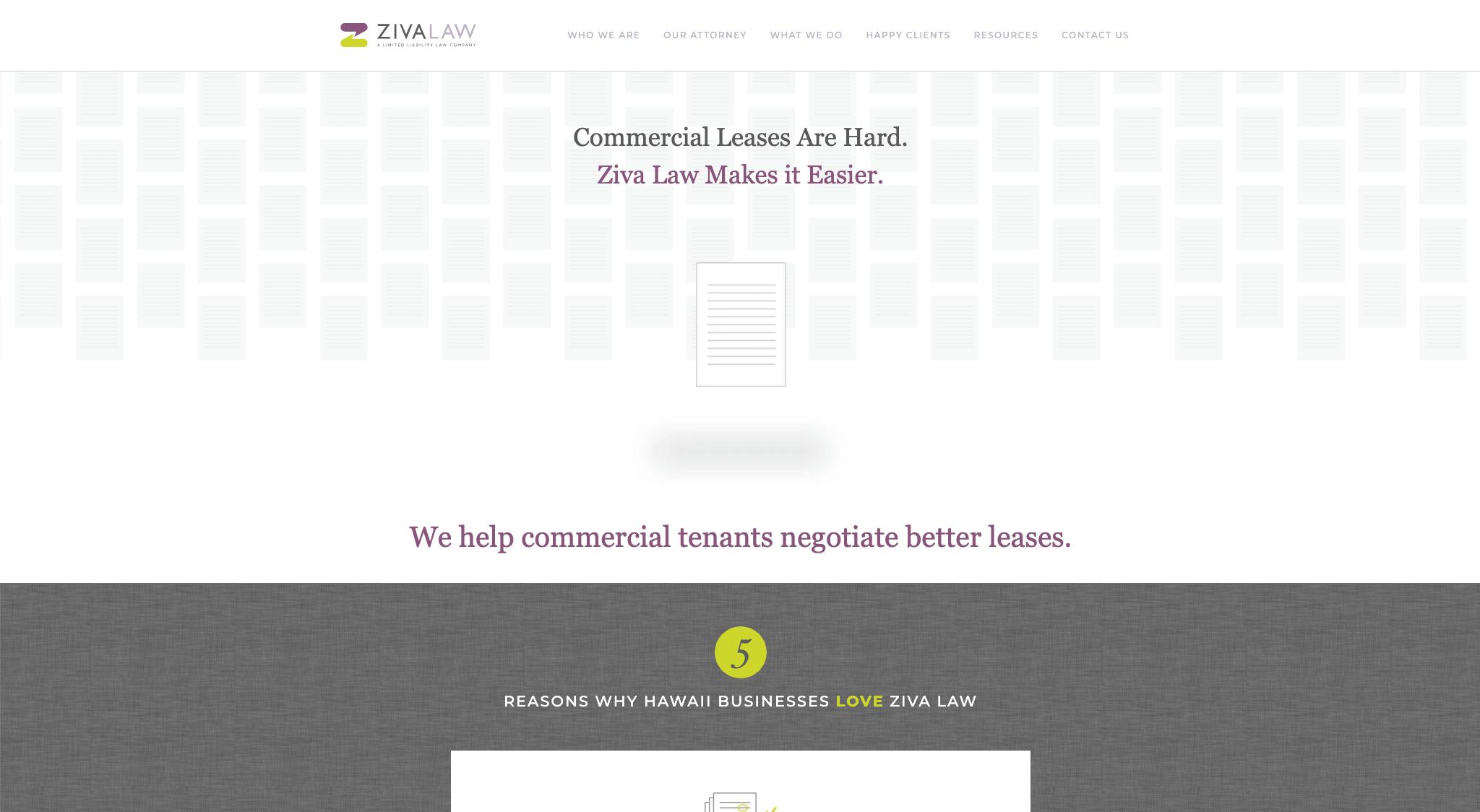 Ziva Law Website