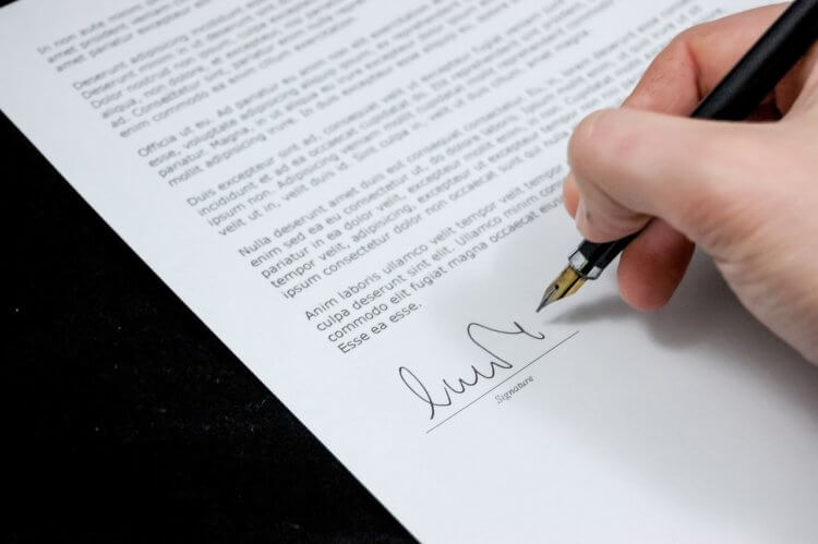 signing a lawyer debt collection letter
