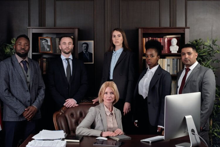 a diverse group of lawyers