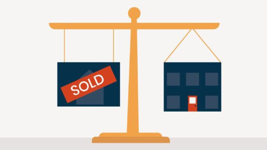 A graphic shows the balance one must strike when selling a law practice